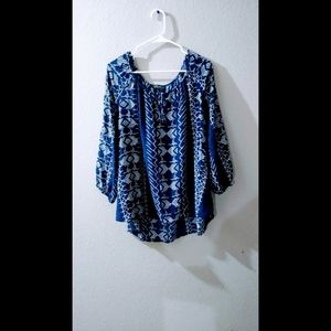 Pretty blue patterned blouse